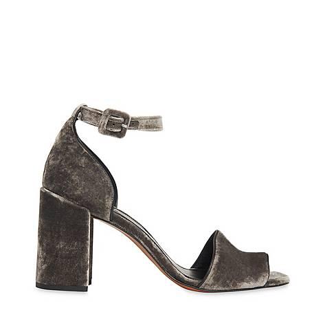 Hedda Velvet Block Heel Sandals, ${color}