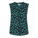 Maddie Lenno Print Frill Top, ${color}