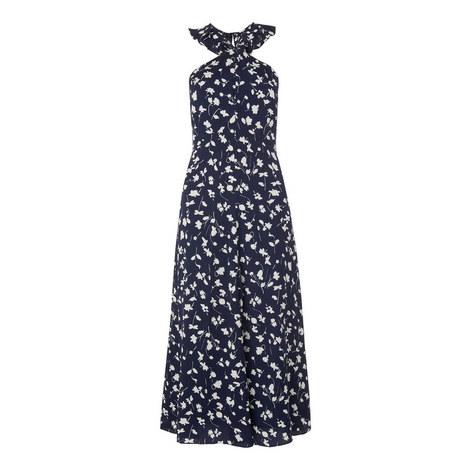Celia Print Frill Detail Dress, ${color}