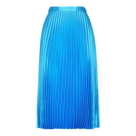 Satin Pleated Skirt, ${color}