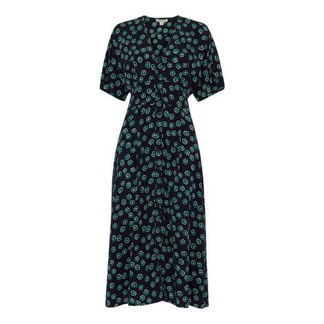 Lenno Print Naya Button Dress, ${color}