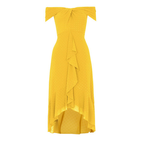 Eriko Dobby Bardot Dress, ${color}