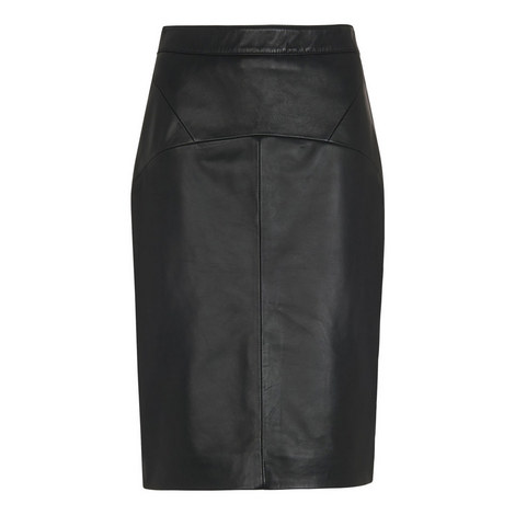 Kel Leather Pencil Skirt, ${color}