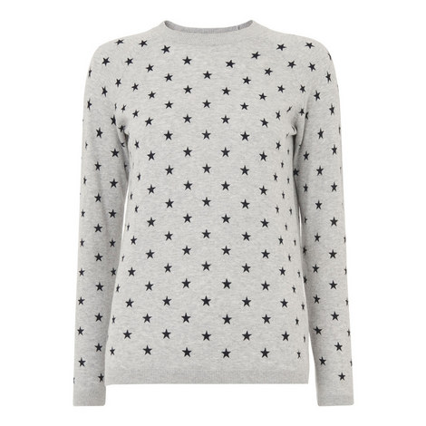 Star Print Sweater, ${color}