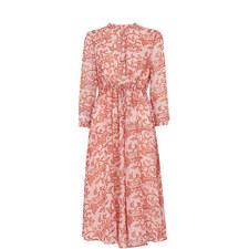Bali Print Shirt Dress