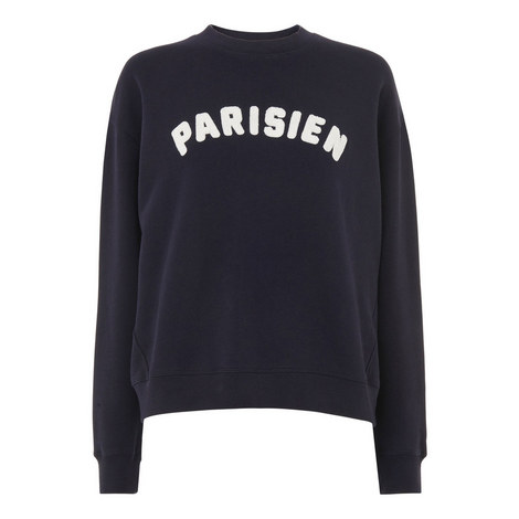 Flocked Parisien Sweatshirt, ${color}