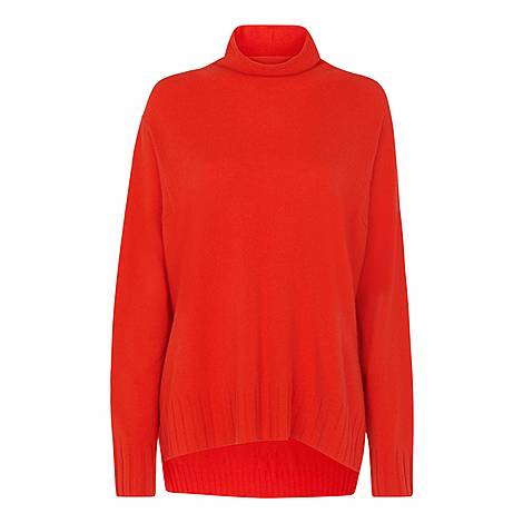 Cashmere Funnel Neck Sweater, ${color}