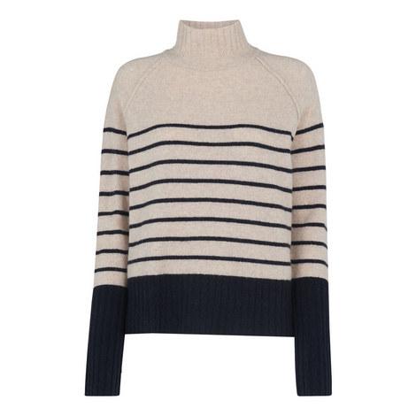 Stripe Funnel Neck Wool Knit, ${color}
