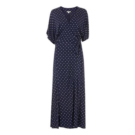 Spot Print Jersey Wrap Dress, ${color}
