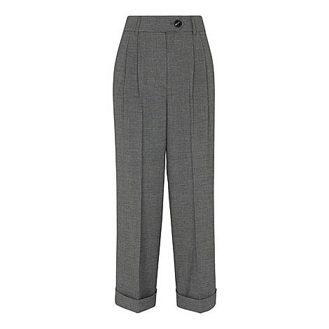 Turn Up Cropped Trousers, ${color}