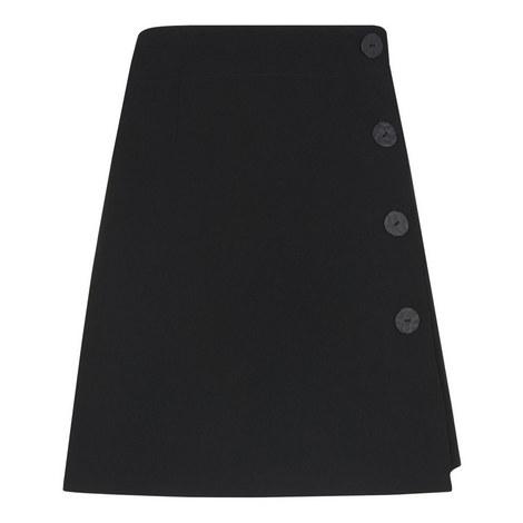 Button Detail Crepe Skirt, ${color}