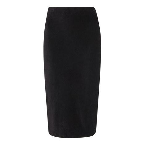 Velvet Jersey Tube Skirt, ${color}
