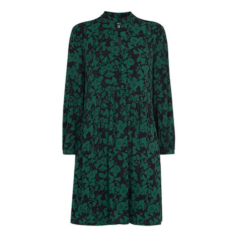 Deco Print Shirt Dress, ${color}