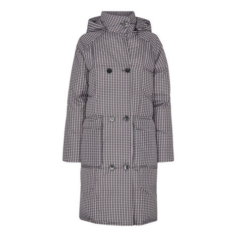 Check Longline Puffer Coat, ${color}