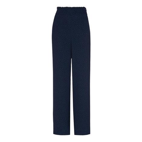 Animal Jacquard Trousers, ${color}