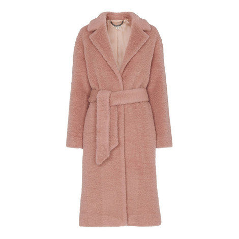 Wool Textured Belted Coat, ${color}