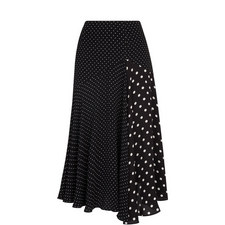 Polka Dot Print Asymmetric Skirt