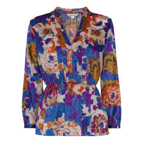 Autumn Bloom Devore Blouse, ${color}