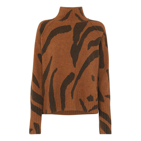 Animal Funnel Neck Sweater, ${color}
