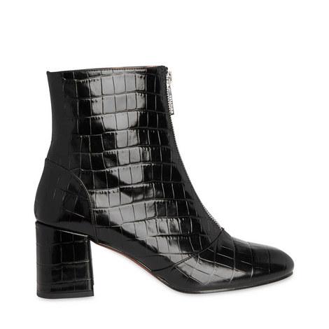 Rowan Croc Zip Front Boots, ${color}