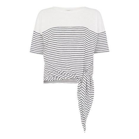 Side Tie Breton T-Shirt, ${color}