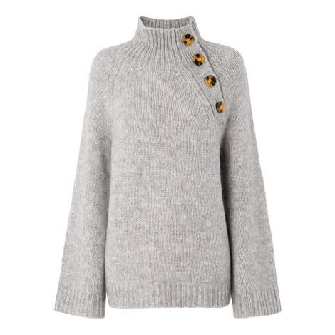 Button Neck Alpaca Sweater, ${color}