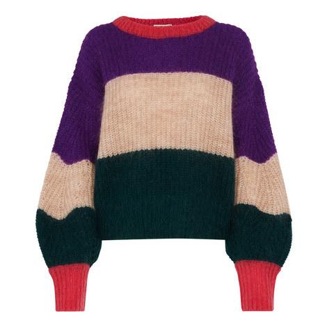 Sophia Stripe Mohair Sweater, ${color}
