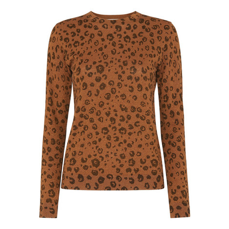 Cheetah Print Sparkle Sweater, ${color}