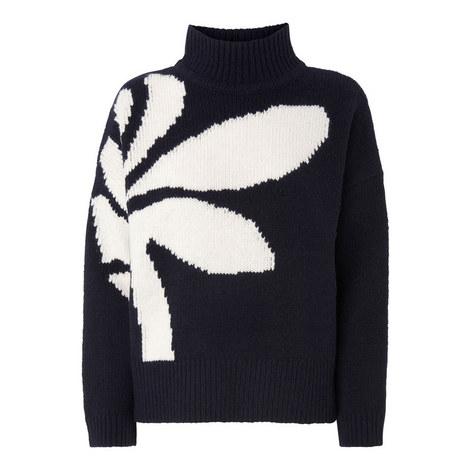 Palm Intarsia Sweater, ${color}