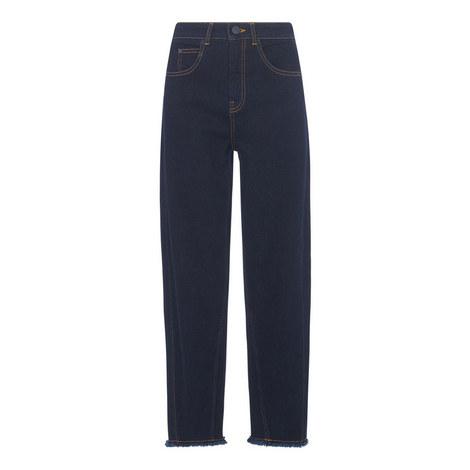 High Waist Barrel Leg Jean, ${color}