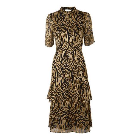 Ivanna Reed Devore Frill Dress, ${color}