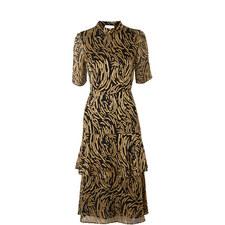 Ivanna Reed Devore Frill Dress