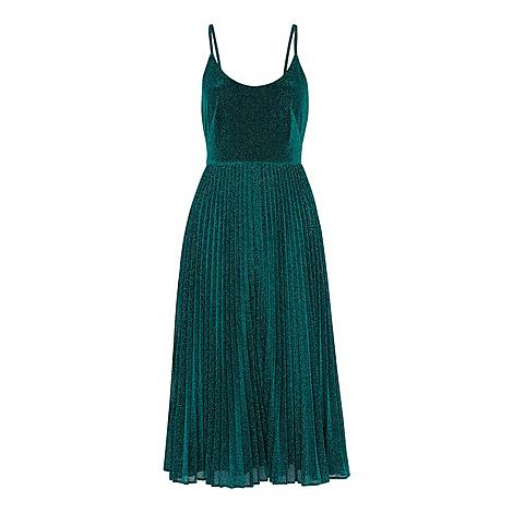 Regina Sparkle Pleated Dress, ${color}