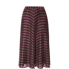 Stripe Sparkle Pleated Skirt