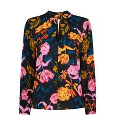 Digital Bloom Print Blouse