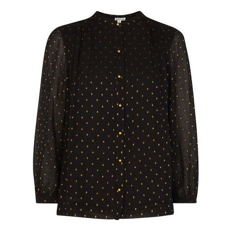Gianni Gold Dobby Blouse, ${color}