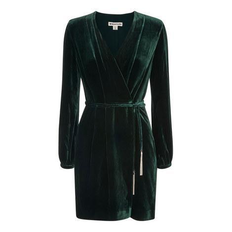 Lavone Silk Mix Velvet Dress, ${color}