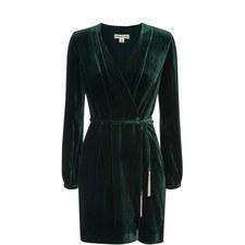 Lavone Silk Mix Velvet Dress