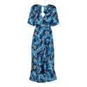 Josephine Printed Wrap Dress, ${color}