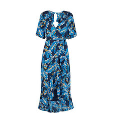 Josephine Printed Wrap Dress