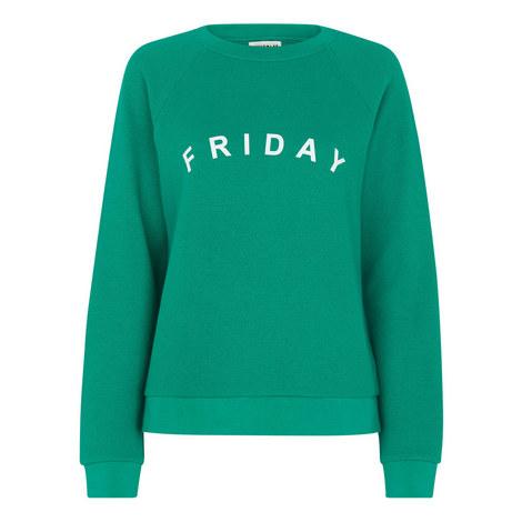 Friday Slogan Sweatshirt, ${color}