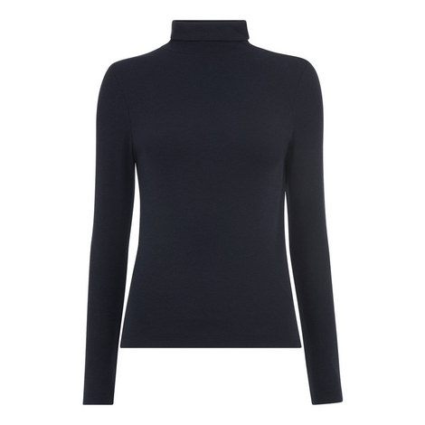 Essential Polo Neck Top, ${color}