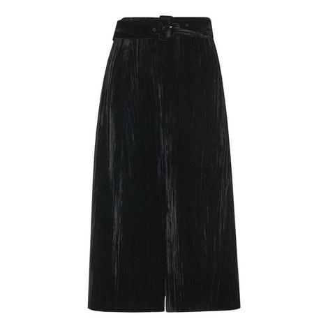 Crushed Velvet Buckle Skirt, ${color}