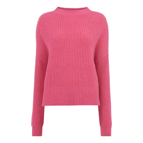 Ribbed Oversized Sweater, ${color}