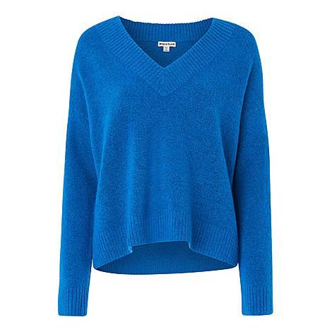 Oversized V Neck Sweater, ${color}