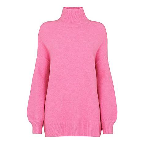 Oversized Funnel Neck Sweater, ${color}