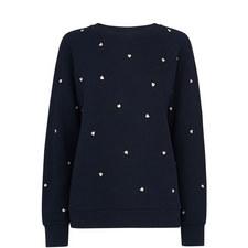 Heart Embroidered Sweatshirt