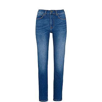 Mid-Wash Skinny Jeans