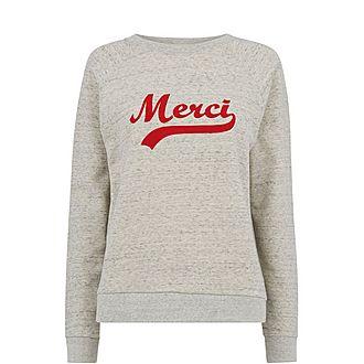 Merci Embroidered Sweatshirt