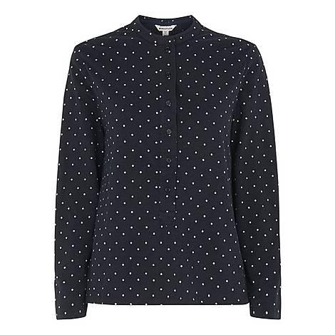 Spot Slub Cotton Shirt, ${color}